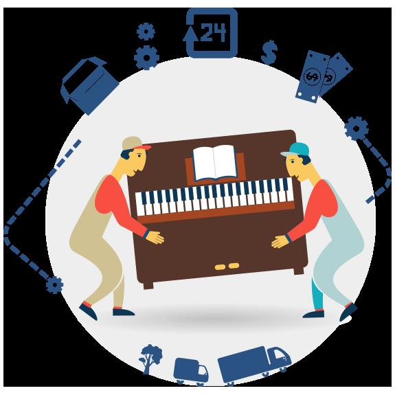 Grafik Klavier Transport