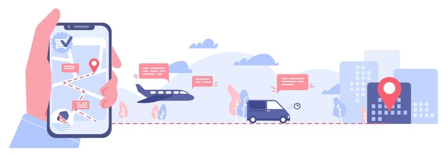 Grafik effizienter Transport